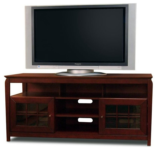 Tech craft veneto 60 hi boy walnut wood lcd plasma tv for Tech craft tv stands