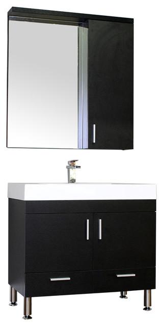 Alya Bath At 8089 36 Single Modern Bathroom Vanity Set Black Modern Bathroom Vanities And