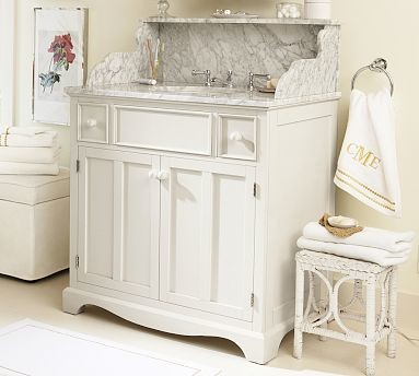... Sink Console, Antique White - Traditional - Bathroom Vanities And Sink
