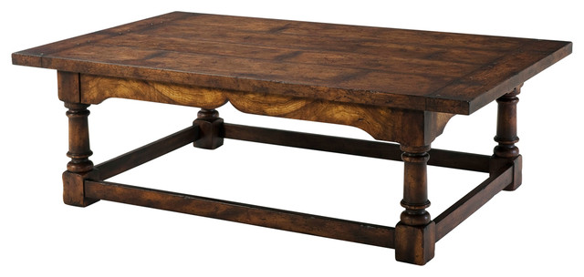 Theodore Alexander Victory Oak Victory Oak Cocktail Table