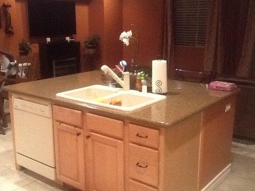 choosing a kitchen sinkage faucet to match bisque appliances