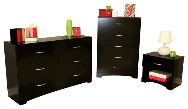 South Shore Maddox Dresser Chest And Nightstand Set In
