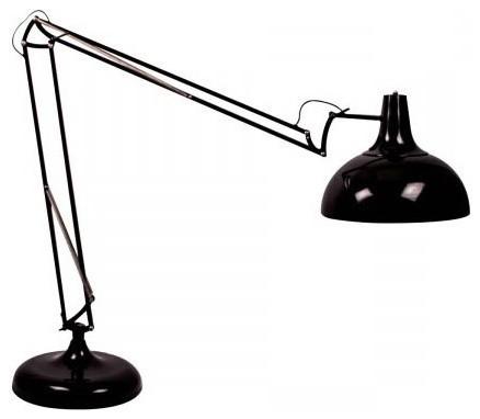 lampadaire design g ant architecte capella couleur noir industriel lampadaire int rieur. Black Bedroom Furniture Sets. Home Design Ideas