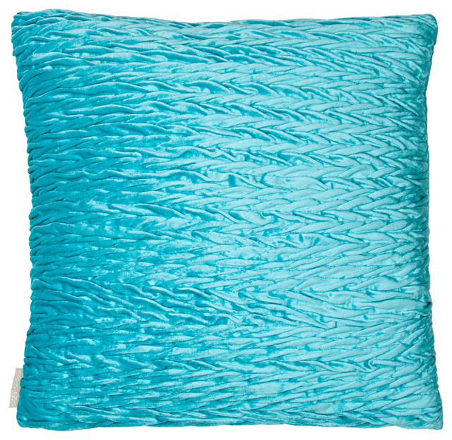 velvet ruching pillow turquoise decorative pillows by