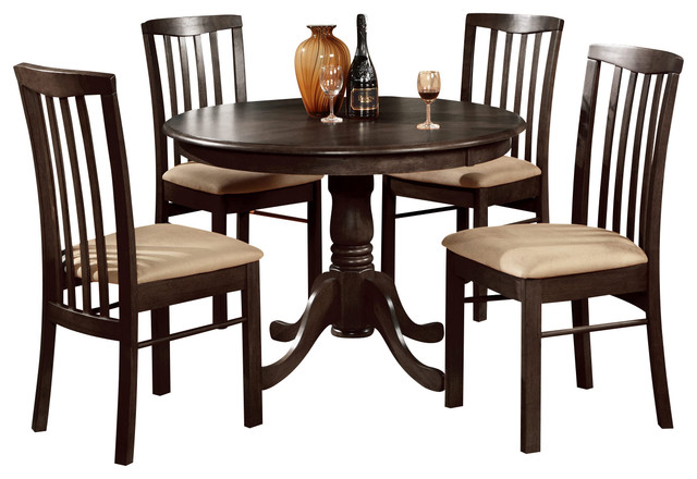 3 pc small kitchen table and chairs set table round table and 2 dining chairs traditional. Black Bedroom Furniture Sets. Home Design Ideas