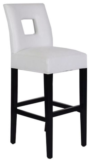 White Leather Padded Bar Stool 400 Est Retail 150  : contemporary bar stools and counter stools from www.houzz.com size 360 x 640 jpeg 22kB