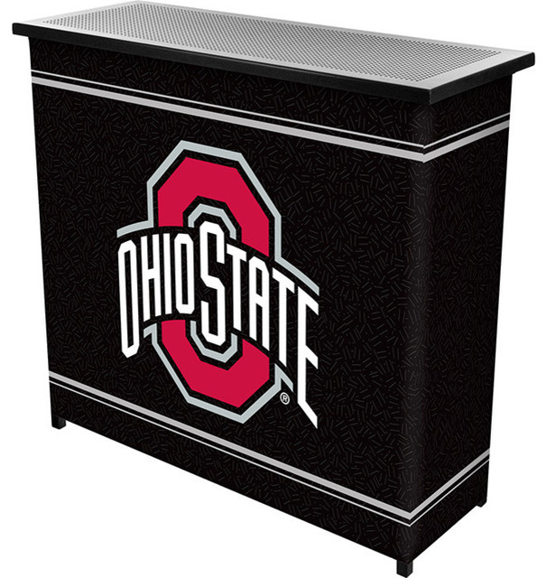 The Ohio State University 2 Shelf Portable Bar With Case contemporary-wine-and-bar-cabinets