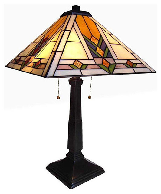 arts crafts tulip stained glass table lamp arts. Black Bedroom Furniture Sets. Home Design Ideas
