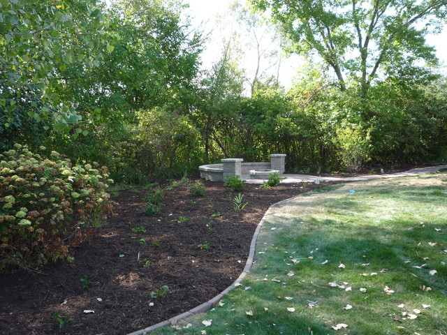 Retaining Wall Block Des Moines : Des moines patio seat wall fire pit traditional