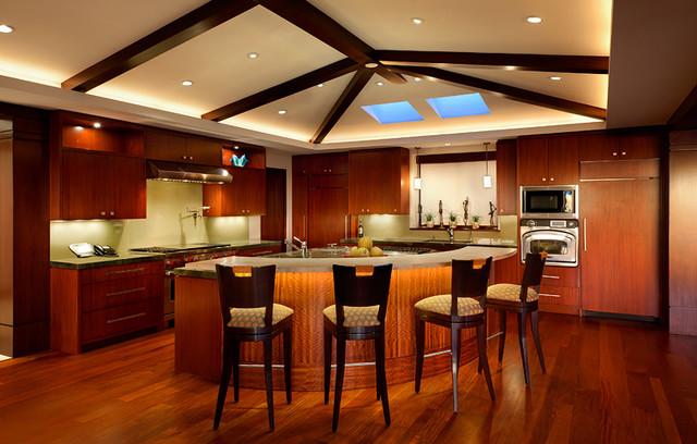Ocean View Manhattan Beach Home Contemporary Kitchen