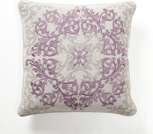 Decorative Pillow Rolls : Baroque and Roll Urbane Pillow in Plum - Modern - Decorative Cushions