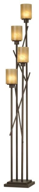Pacific coast city crossings uplight floor lamp bronze for Contemporary floor lamps gold coast