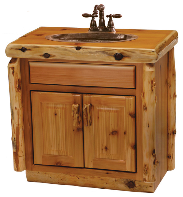 cedar vanity without top sink center 30 rustic bathroom vanities and sink consoles by