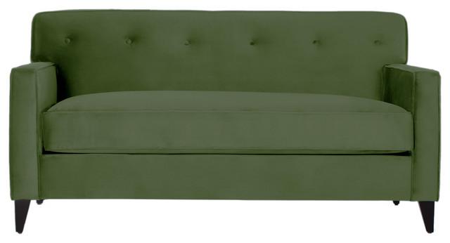 harrison apartment size sofa evergreen midcentury sofas