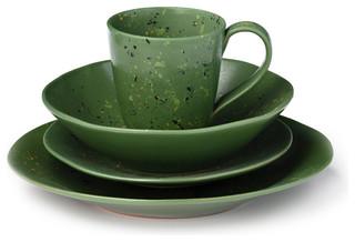 fresco dinnerware set orange dark green exotique service de vaisselle par mercato. Black Bedroom Furniture Sets. Home Design Ideas