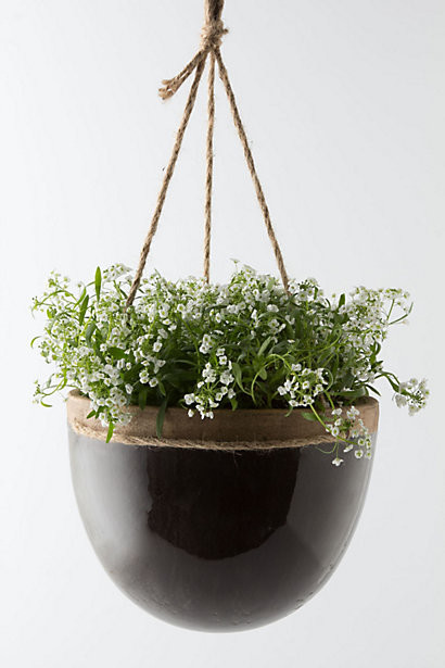 Mulberry Hanging Planter Contemporary Outdoor Pots And