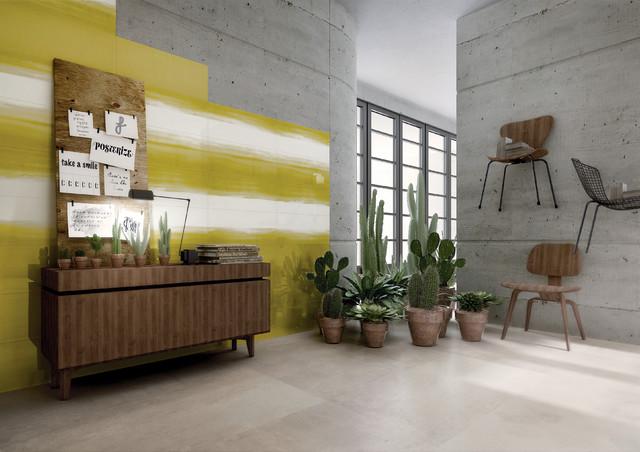 Lime Green Walls Modern Living Room Dublin By Tilestyle