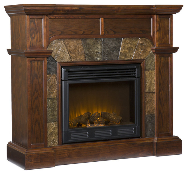 Southern Enterprises Cartwright Electric Fireplace Traditional Indoor Fireplaces By Air