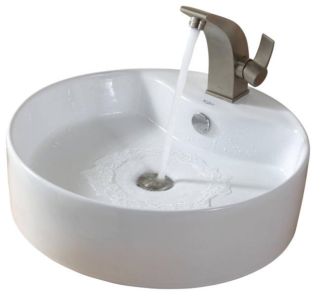 Kraus Sink Illusio Basin Faucet Nickel - Modern - Bathroom Sinks - by ...