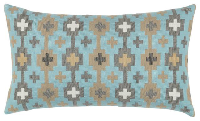 Elaine Smith Canyon Cross Sky Lumbar Pillow - Scandinavian - Outdoor Cushions And Pillows - by ...