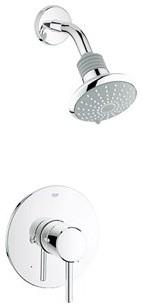 grohe concetto shower combination trim starlight chrome. Black Bedroom Furniture Sets. Home Design Ideas