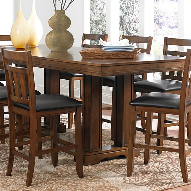 Counter Height Table Uk : ... Counter Height Trestle Table in Warm Oak contemporary-dining-tables