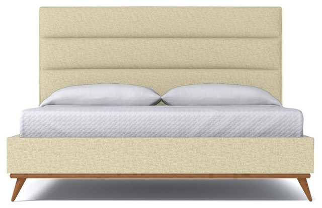 Shop Houzz Aptb Cooper Upholstered Bed From Kyle Schuneman Bisque