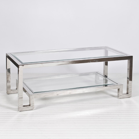 Worlds Away Winston Nickel Coffee Table Contemporary Side Tables And End Tables Charlotte