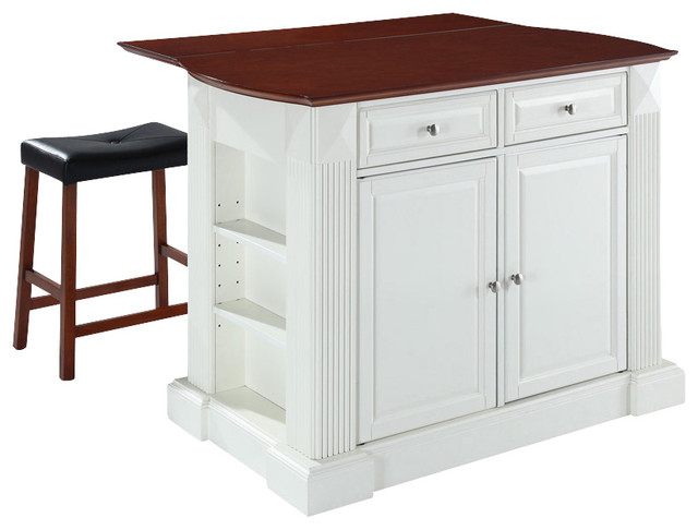 breakfast bar top kitchen island with saddle traditional