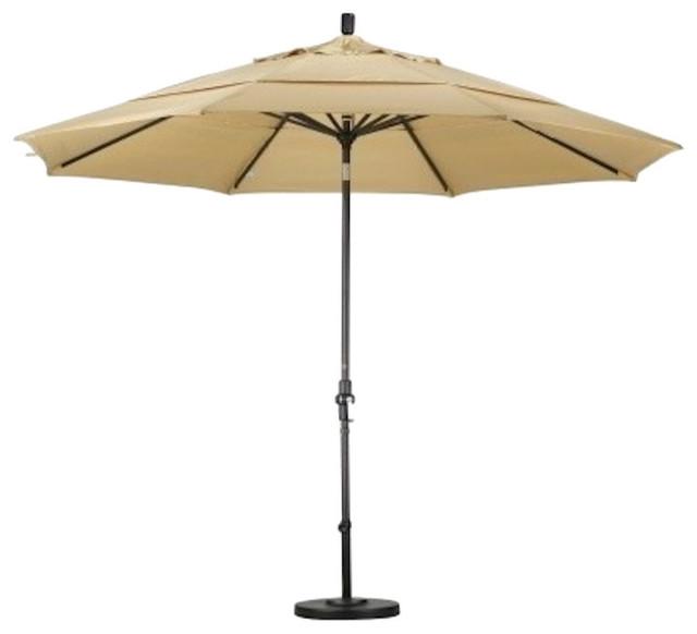 California umbrella 11 39 aluminum market umbrella collar tilt double vents - Parasol double pente ...