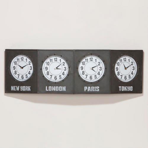 Time Zone Clock Modern Clocks By Cost Plus World Market