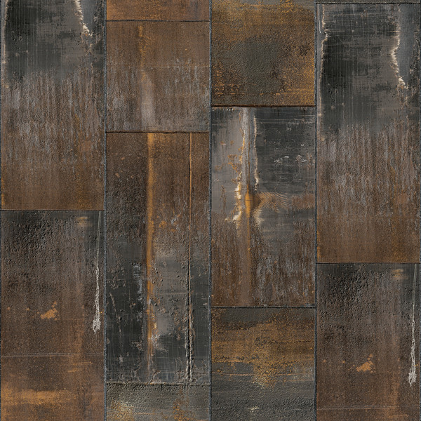 Metal Oxidation Wallpaper Natural Regular Industrial
