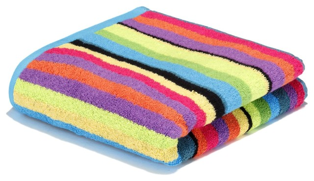 Rainbow serviette de toilette contemporain serviette for Range serviette de bain
