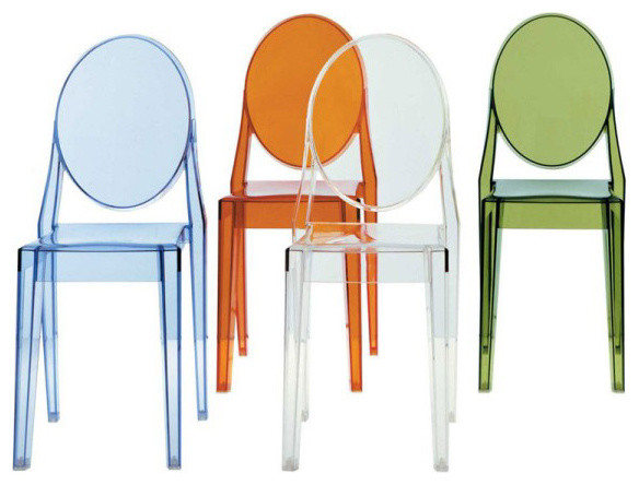 Kartell victoria ghost chair contemporary dining - Chaise victoria ghost kartell ...