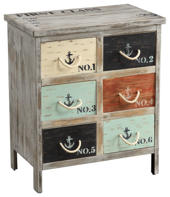 Nautical Multicolor Accent Chest - Beach Style - Accent Chests And Cabinets - by Michael Anthony ...