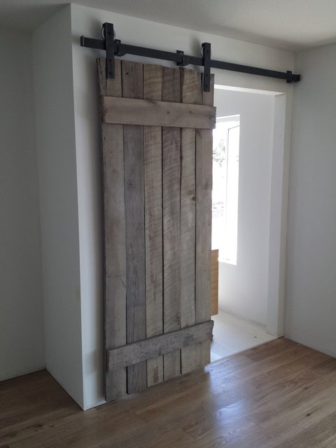 Rustic reclaimed interior barn doors for Recycled interior doors