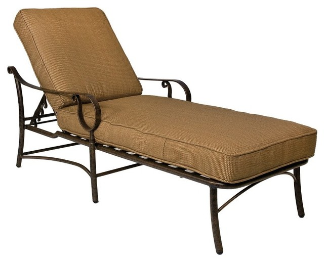 Woodard ridgecrest cushion adjustable chaise lounge for Chaise longue tours