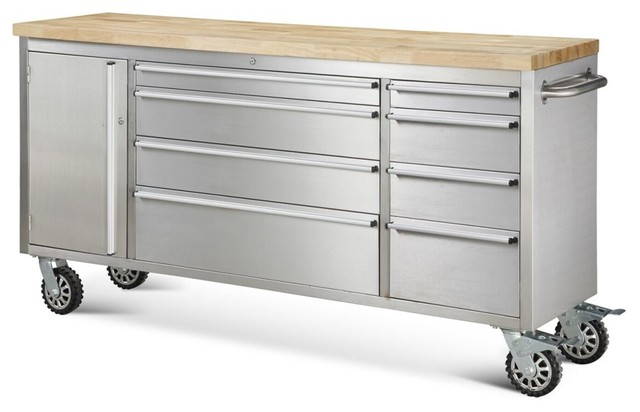 "Hyxion Tool Chests, 72"" 8 Drawer Rolling Metal Tool Chest - Modern ..."