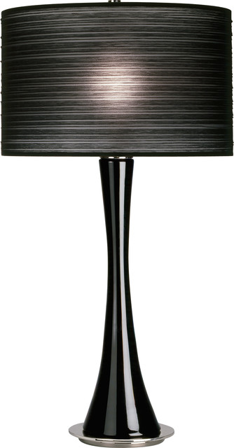 robert abbey kate table lamp black glass black contemporary table
