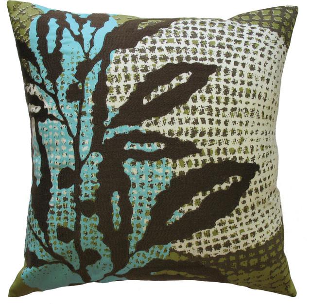 Ecco Pillow, Brown Leaf, 18
