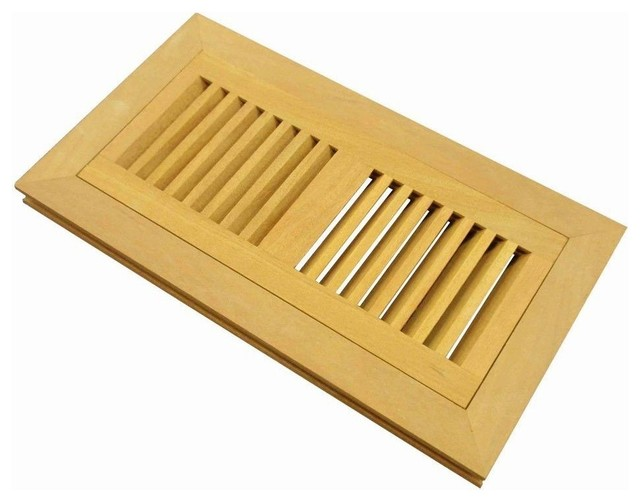 Flush Mount Wood Floor Vent Register Unfinished 2 39 39 X10