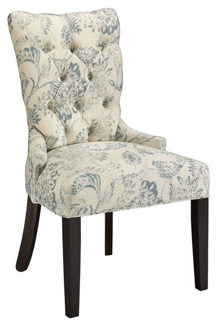 custom tufted back dining chair traditional dining chairs