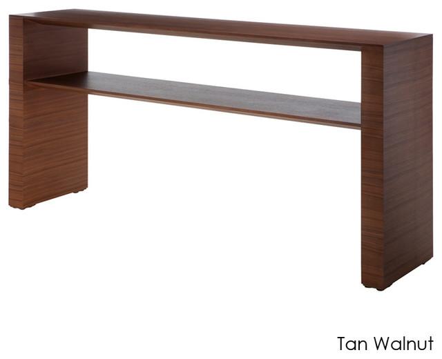 Inga Console Table, Tan Walnut/Small - Modern - Side ...