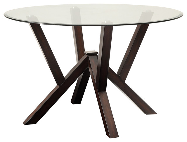Doris Round Dining Table - Contemporary - Dining Tables - by Coaster ...