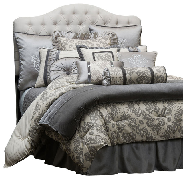 kerrington comforter set queen moderne couvre lit et. Black Bedroom Furniture Sets. Home Design Ideas