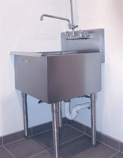 modern laundry room sinks | A-line Laundry Room FreeStanding Unit Laundry Basin Sink ...
