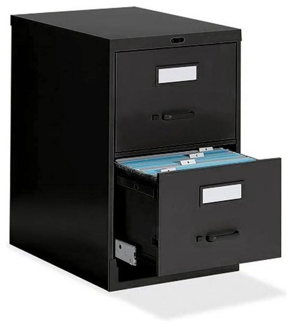 Global Office Low Profile 2 Drawer Vertical Metal File Storage Cabinet - Transitional - Filing ...