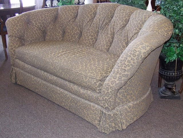 Curved Leopard Print Loveseat Eclectic Sofas Houston