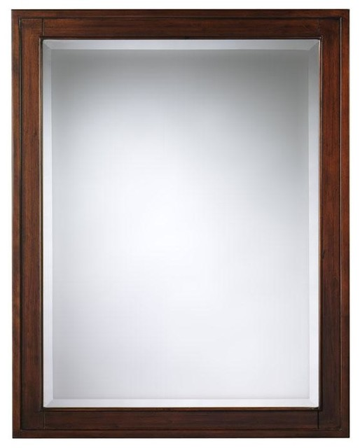 Manor house mirrored cabinet traditional medicine cabinets - Hickory medicine cabinet with mirror ...