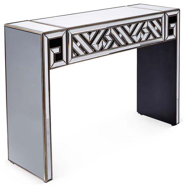 Art Deco Foyer Furniture : Mirrored art deco console gold contemporary